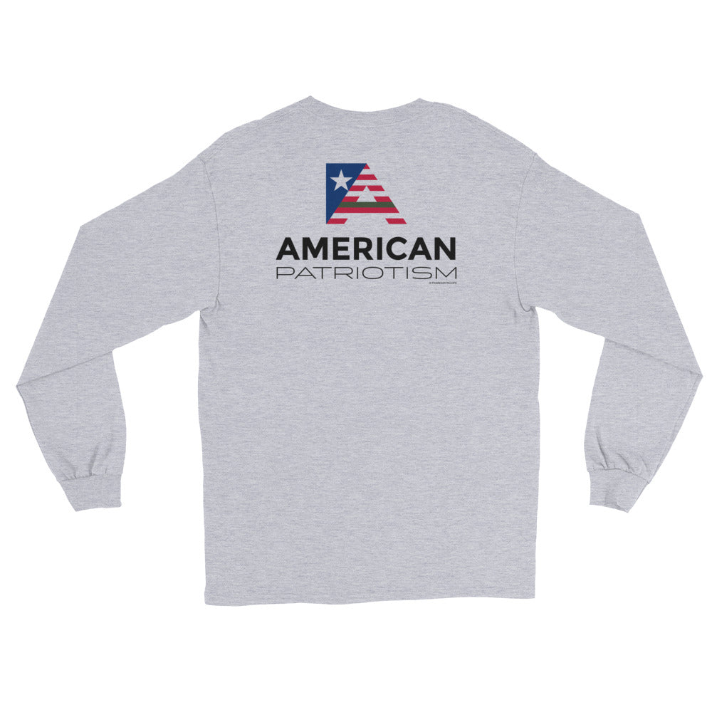Men's Long Sleeve: American...-TrainOurTroops-TrainOurTroops