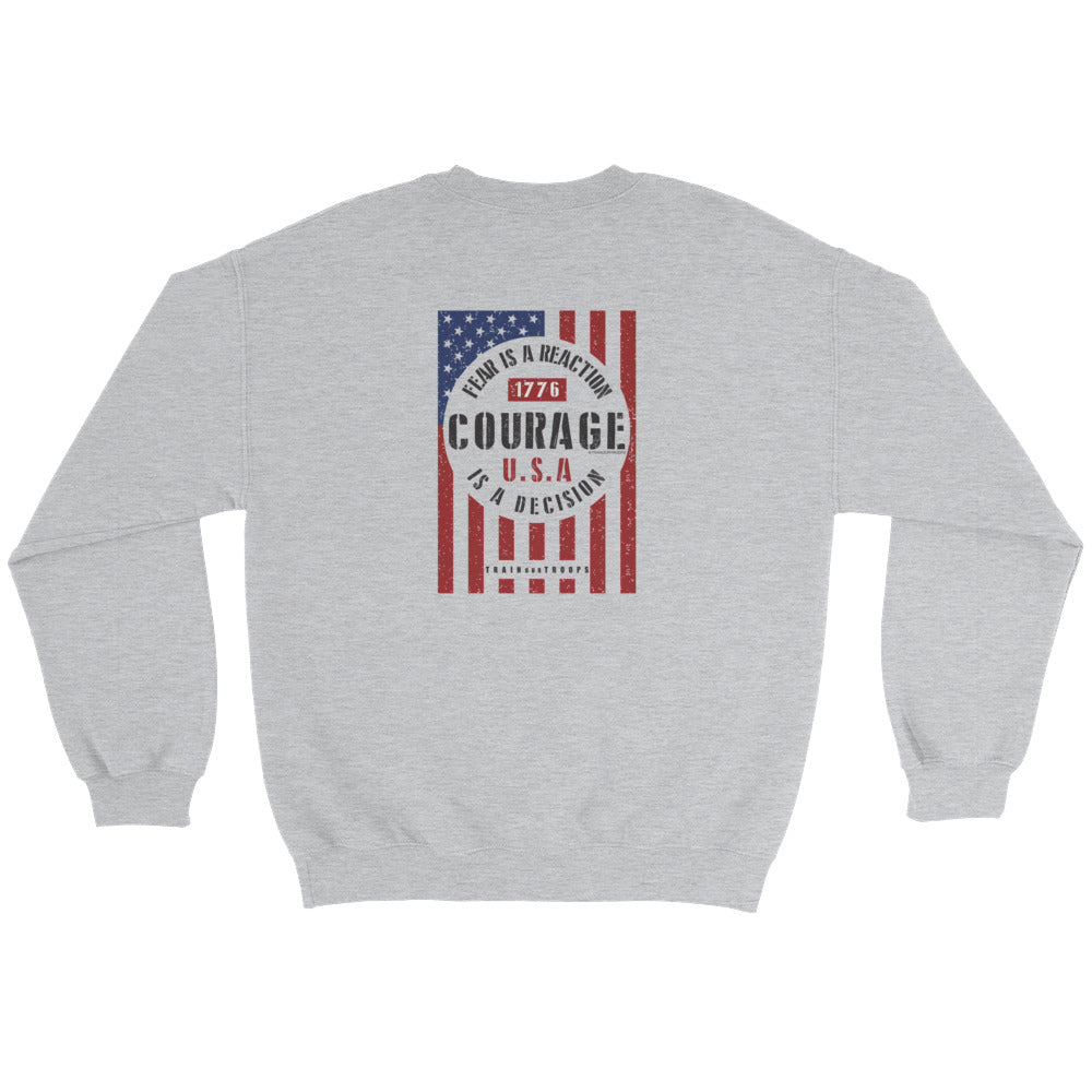 Men's Sweatshirt: Courage...-TrainOurTroops-TrainOurTroops
