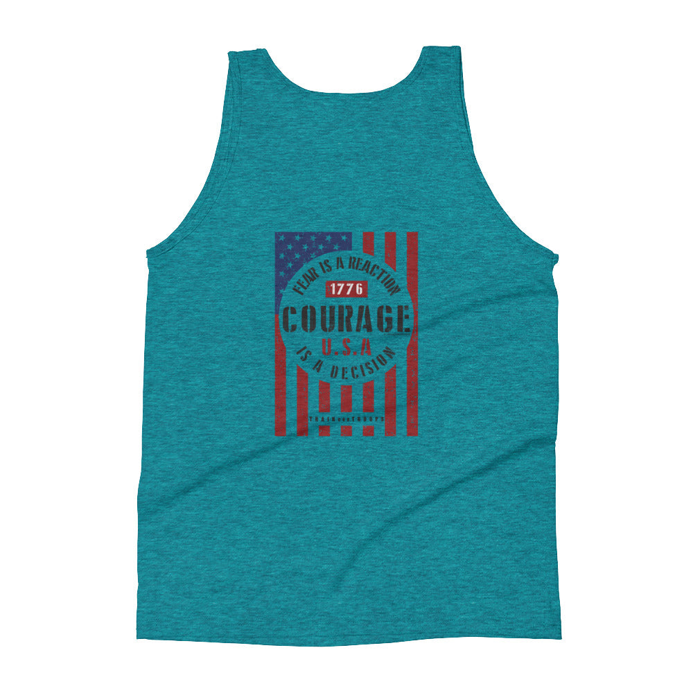 Woman's Tank: Courage...-TrainOurTroops-TrainOurTroops
