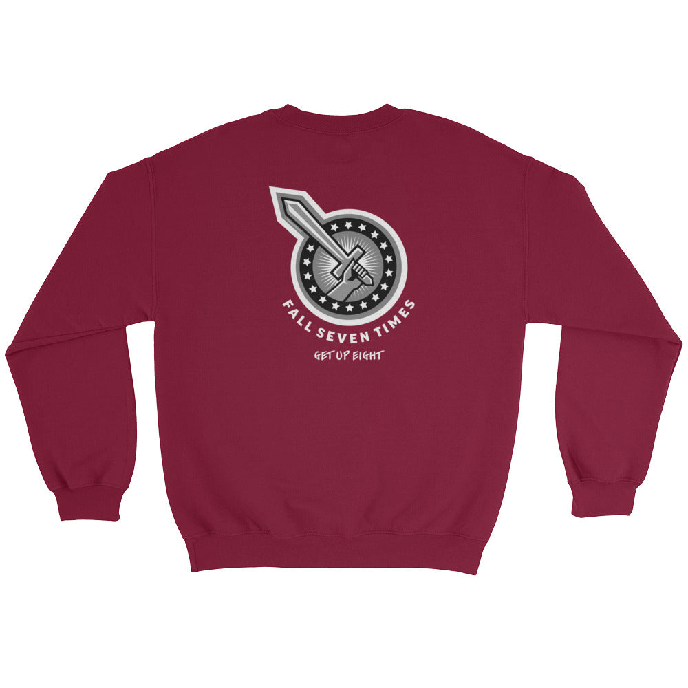 Men's Sweatshirt: Fall Seven Times...-TrainOurTroops-TrainOurTroops