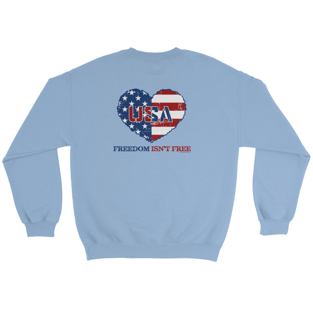Woman's Sweatshirt: Freedom...-TrainOurTroops-TrainOurTroops