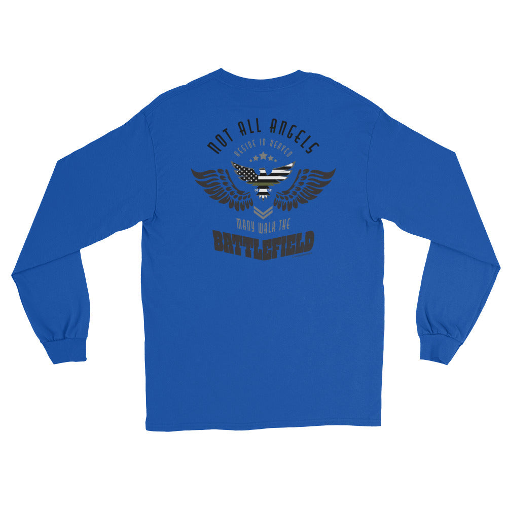 Men's Long Sleeve: Not All Angels...-TrainOurTroops-TrainOurTroops