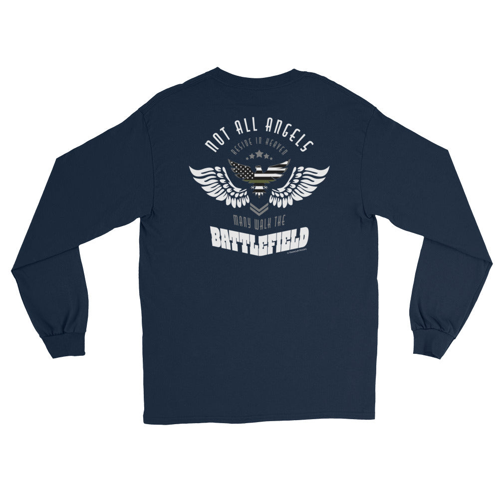 Women's Long Sleeve: Not All Angels...-TrainOurTroops-TrainOurTroops