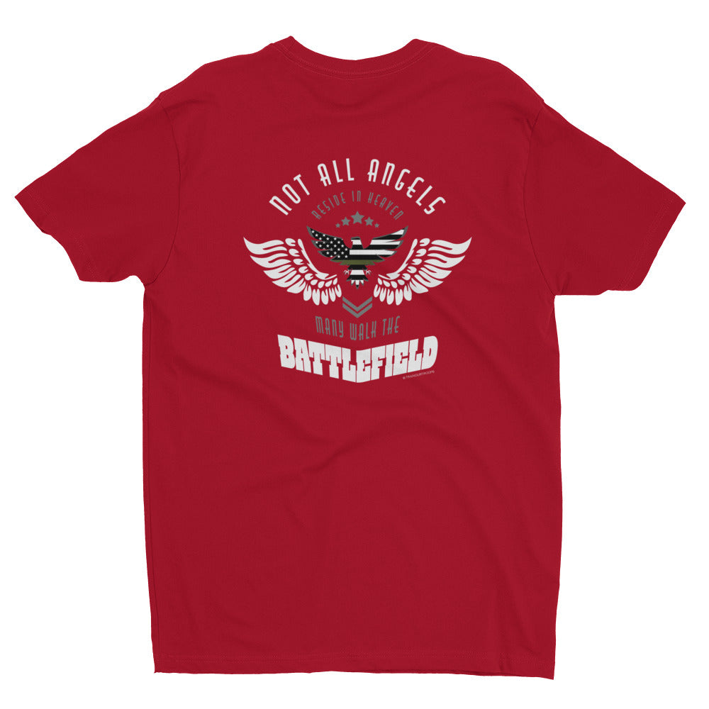 Men's Tee: Not All Angels...-TrainOurTroops-TrainOurTroops
