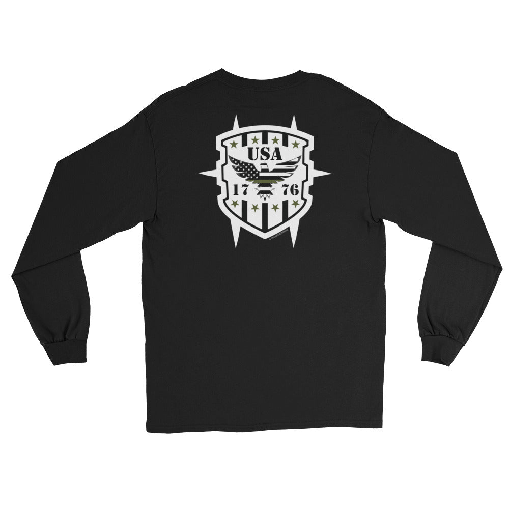 Men's Long Sleeve: USA...-TrainOurTroops-TrainOurTroops