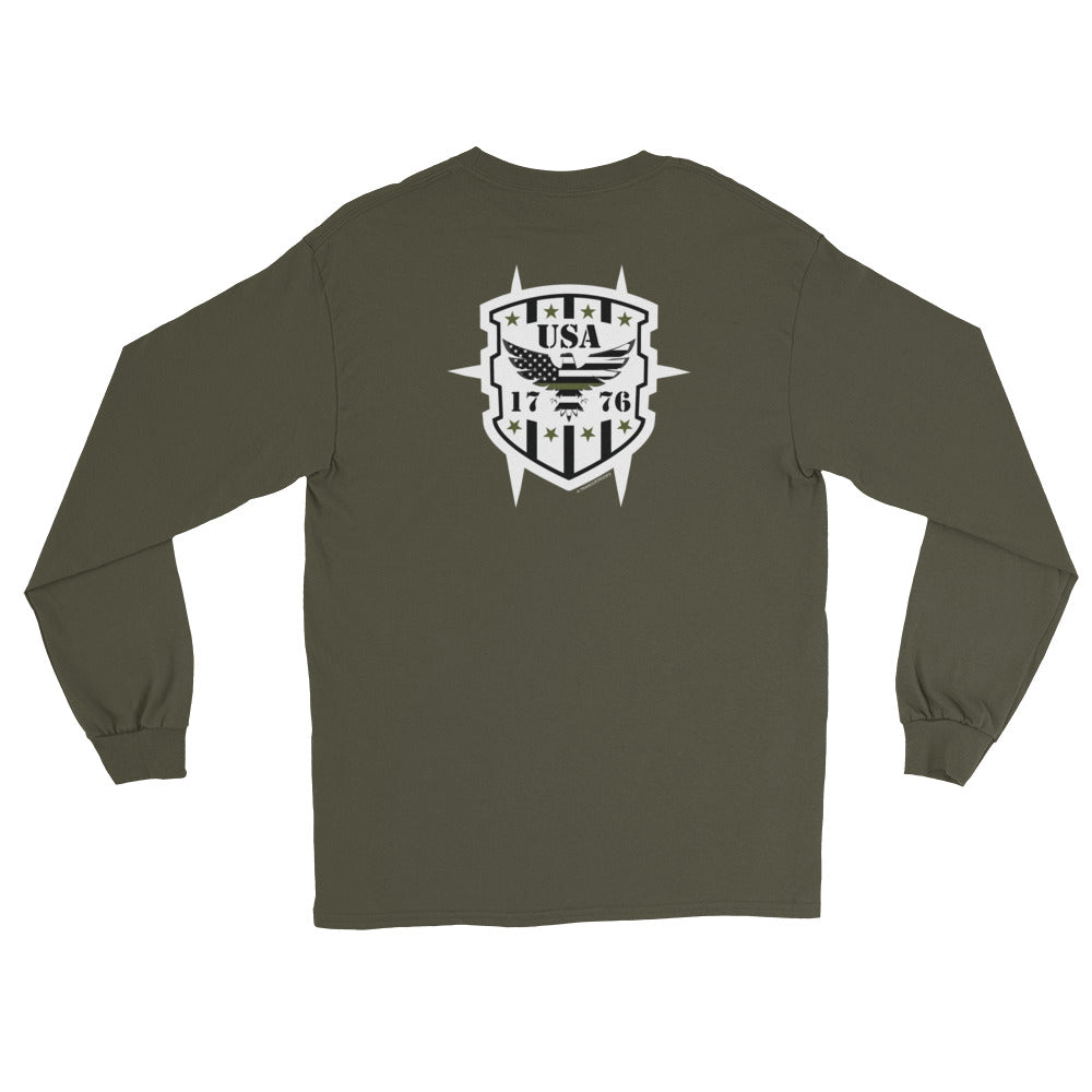 Women's Long Sleeve: USA - 1776-TrainOurTroops-TrainOurTroops