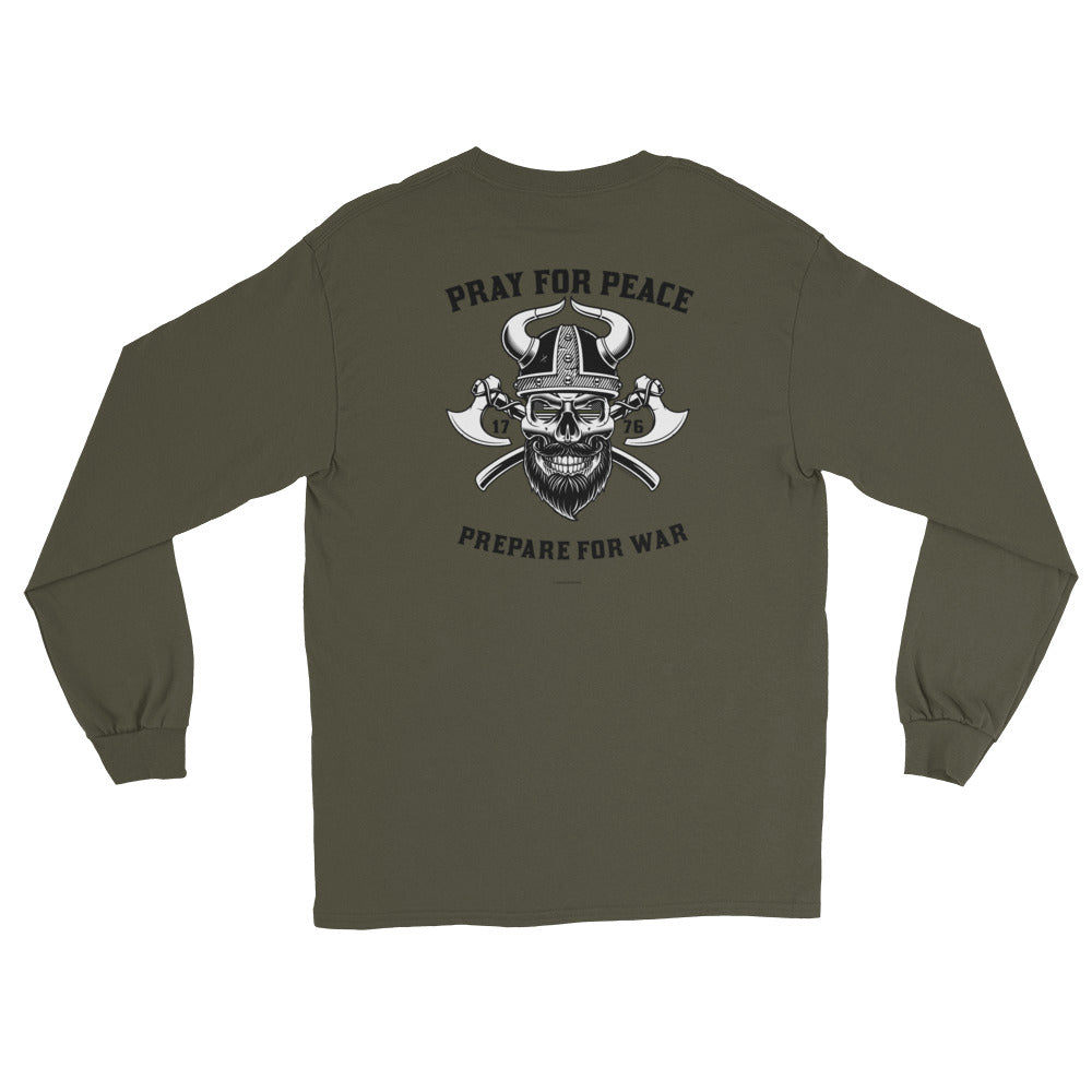 Men's Long Sleeve: Pray For Peace...-TrainOurTroops-TrainOurTroops