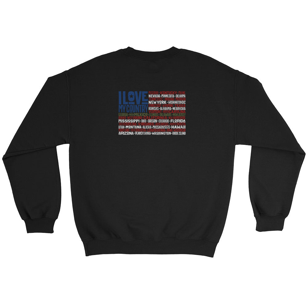 Men's Sweatshirt: I Love...-TrainOurTroops-TrainOurTroops