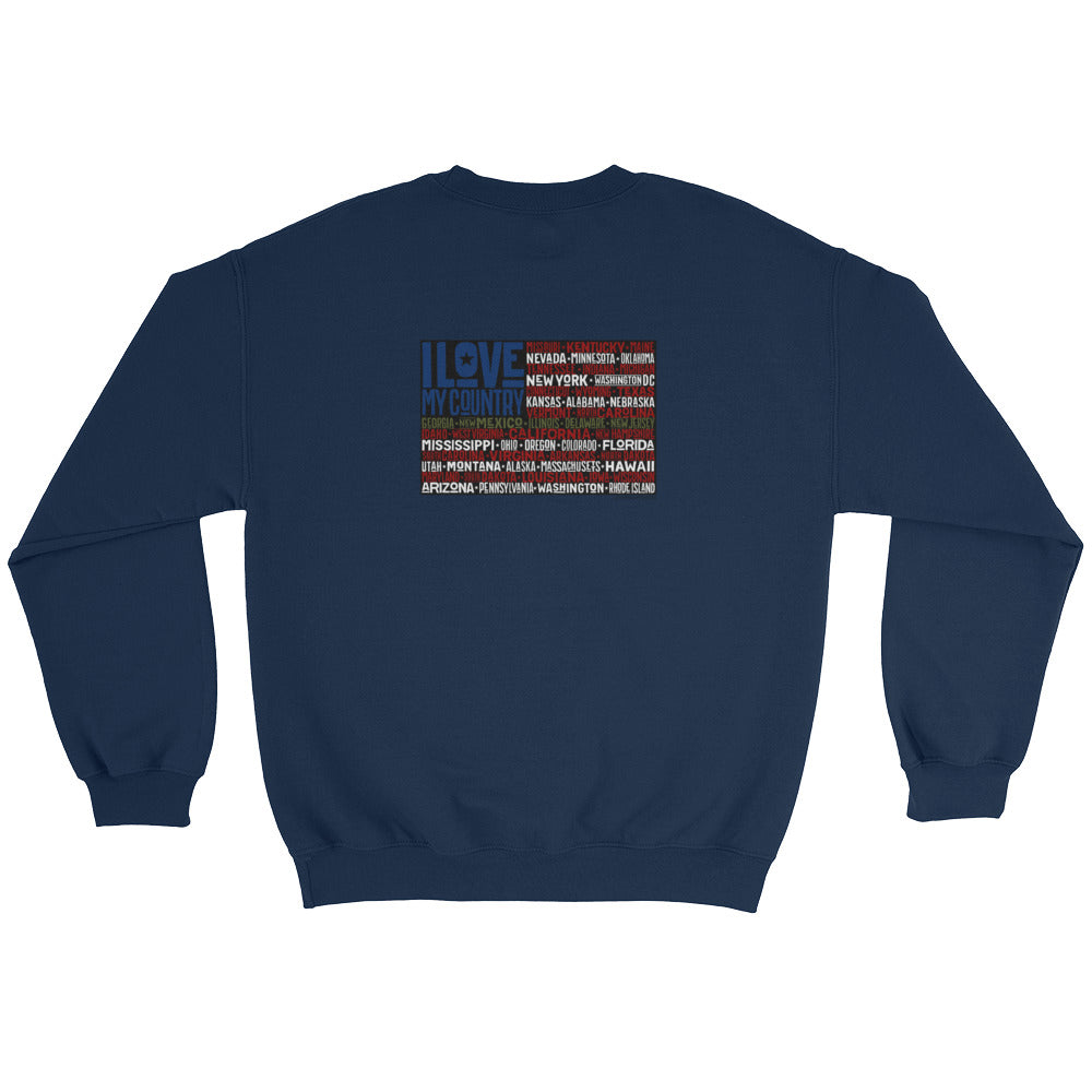 Woman's Sweatshirt: I Love....-TrainOurTroops-TrainOurTroops