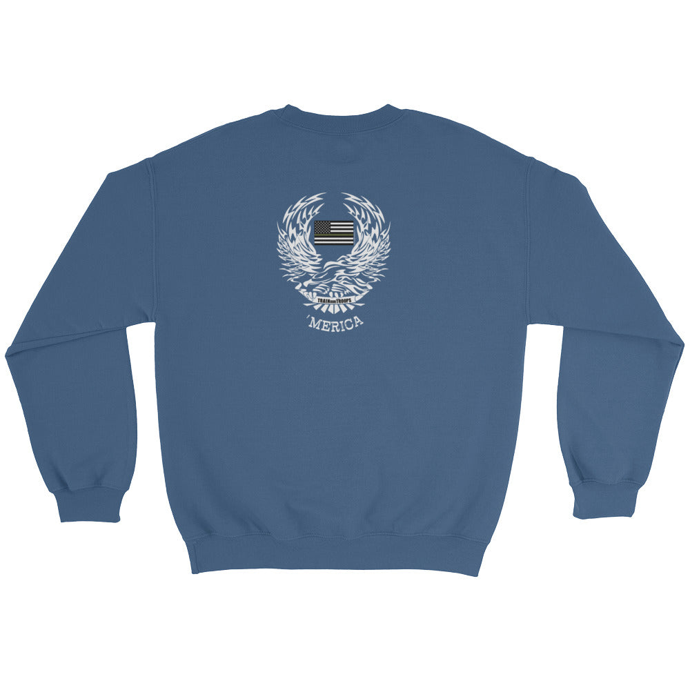 Woman's Sweatshirt: 'Merica-TrainOurTroops-TrainOurTroops