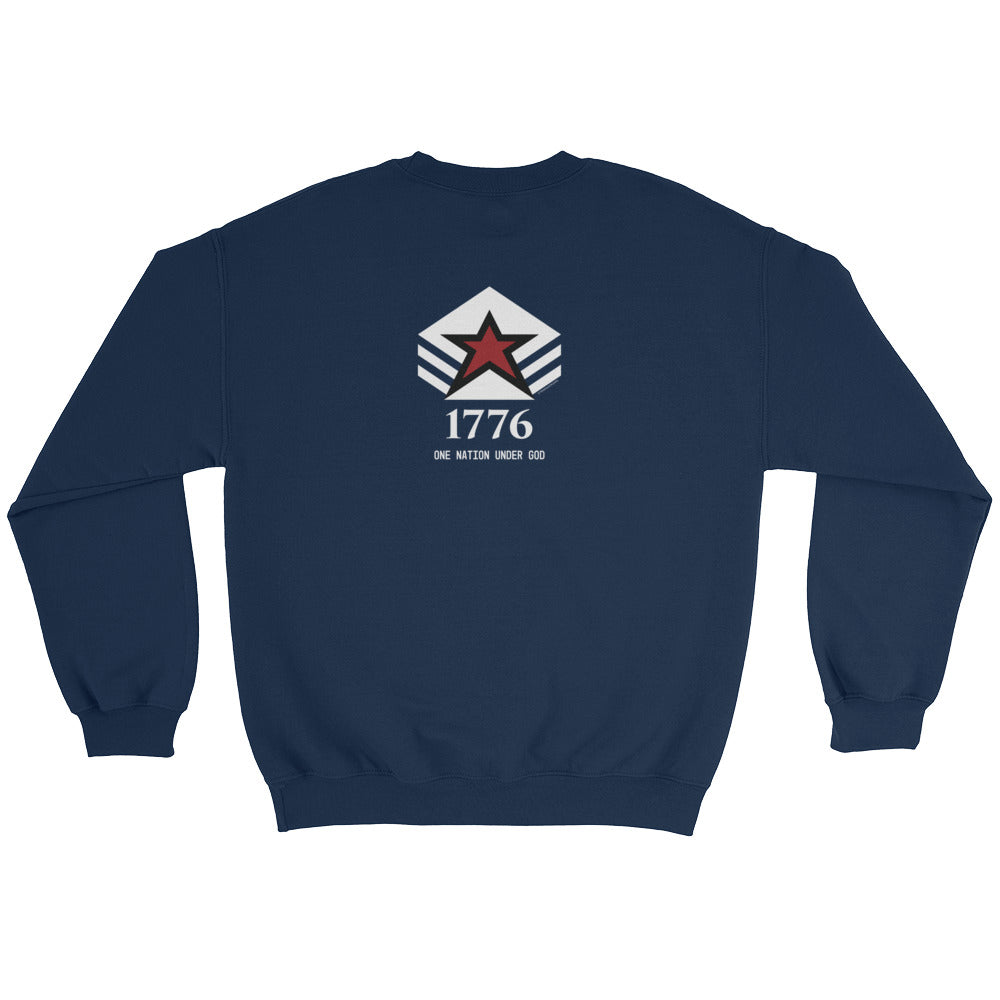 Woman's Sweatshirt: 1776...-TrainOurTroops-TrainOurTroops