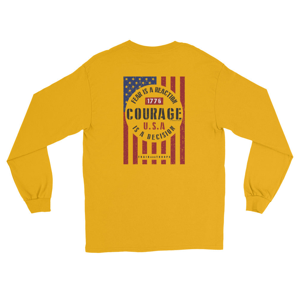 Men's Long Sleeve: Courage...-TrainOurTroops-TrainOurTroops