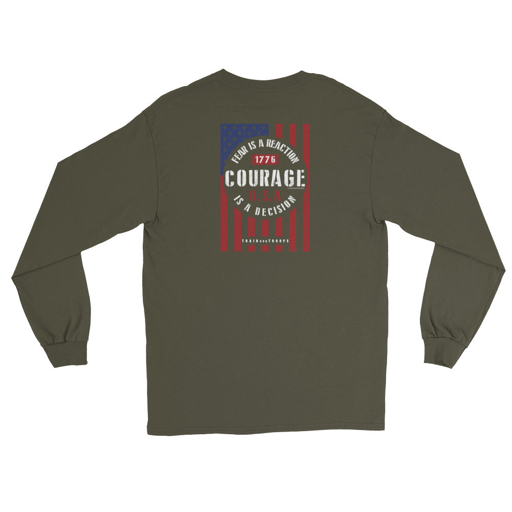 Women's Long Sleeve: Courage...-TrainOurTroops-TrainOurTroops