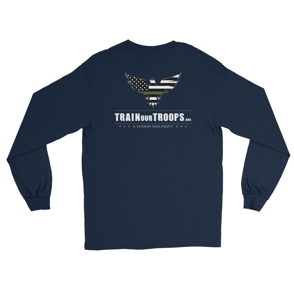 Men's Long Sleeve: TrainOurTroops-TrainOurTroops-TrainOurTroops