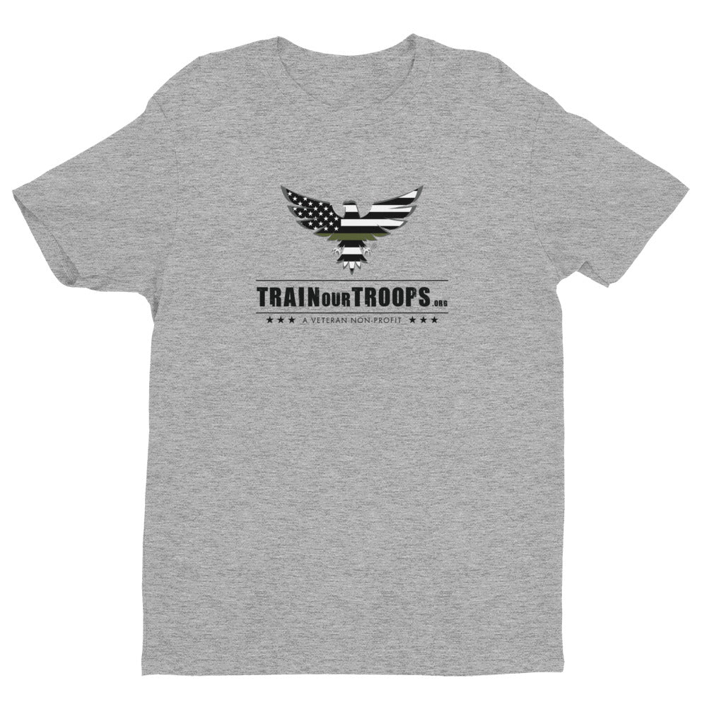 Men's Tee: Fall Seven Times...-TrainOurTroops-TrainOurTroops