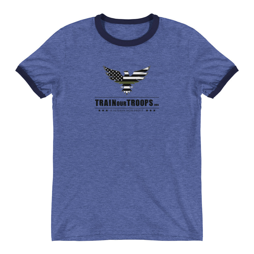 Men's Ringer Tee: Pray...-TrainOurTroops-TrainOurTroops
