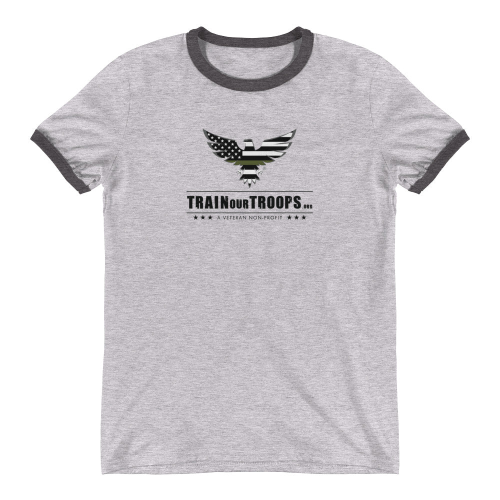 Men's Ringer Tee: Fall Seven Times...-TrainOurTroops-TrainOurTroops