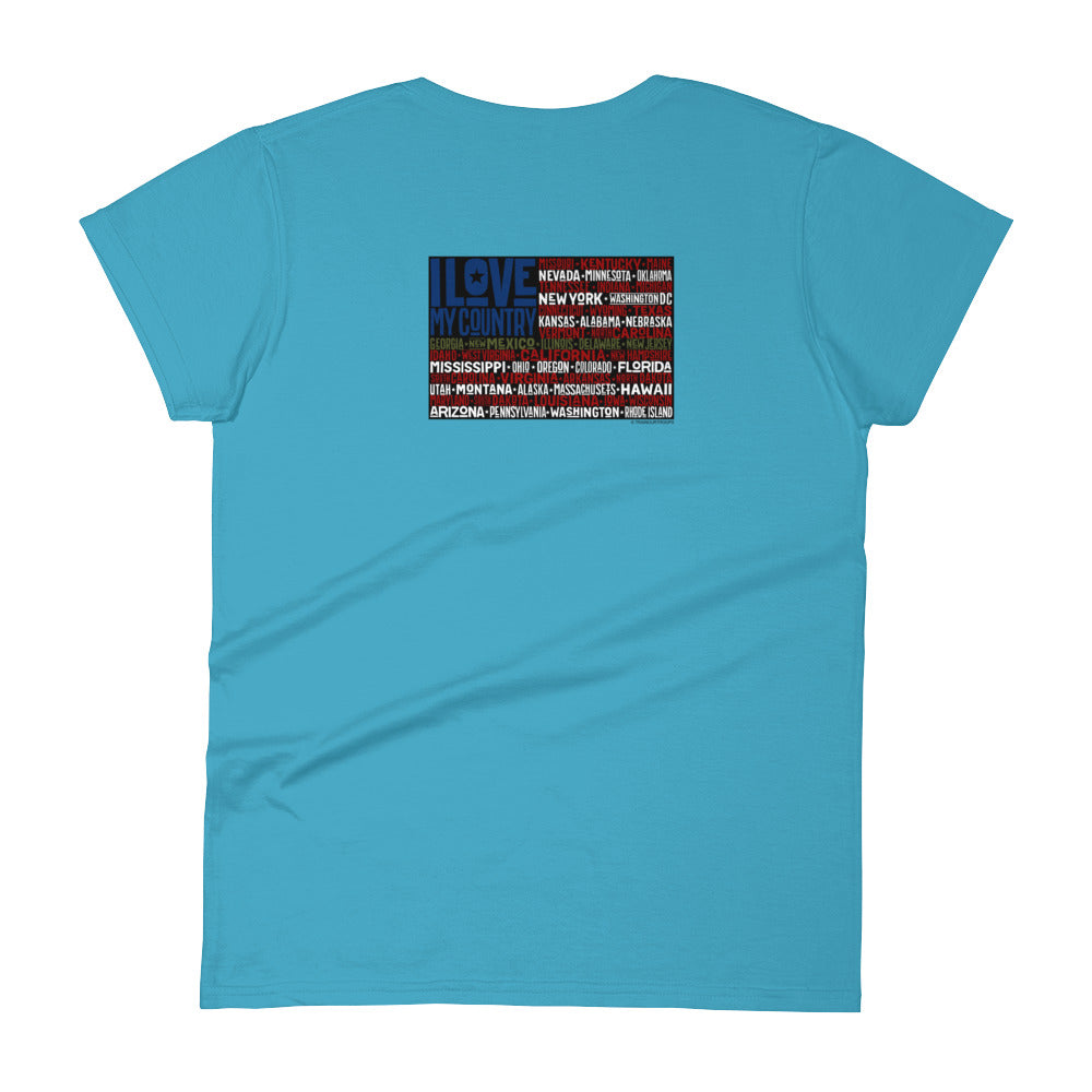 Woman's Tee: I Love...-TrainOurTroops-TrainOurTroops