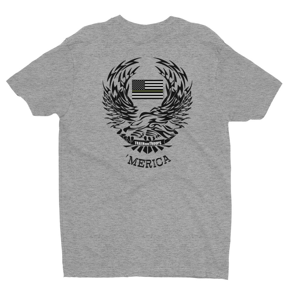 Men's Tee: 'Merica-TrainOurTroops-TrainOurTroops