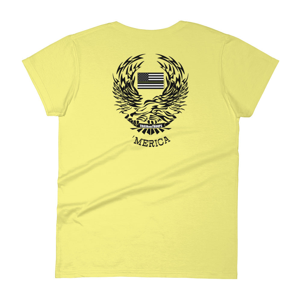 Woman's Tee: 'Merica-TrainOurTroops-TrainOurTroops