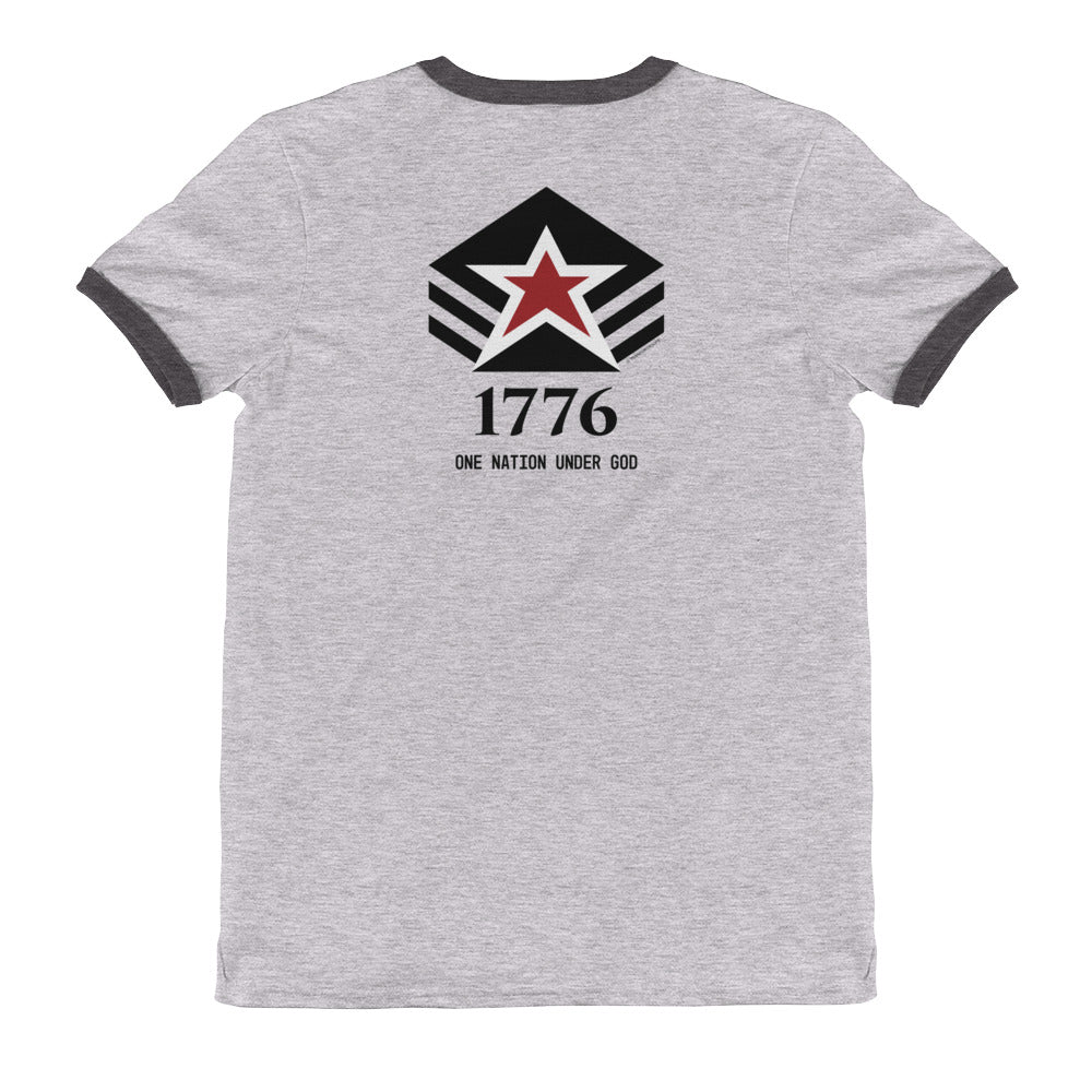 Men's Ringer Tee: 1776...-TrainOurTroops-TrainOurTroops