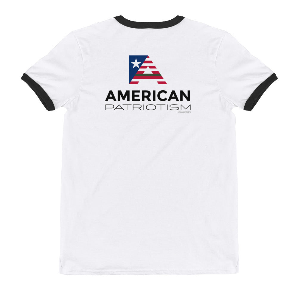 Men's Ringer Tee: American...-TrainOurTroops-TrainOurTroops