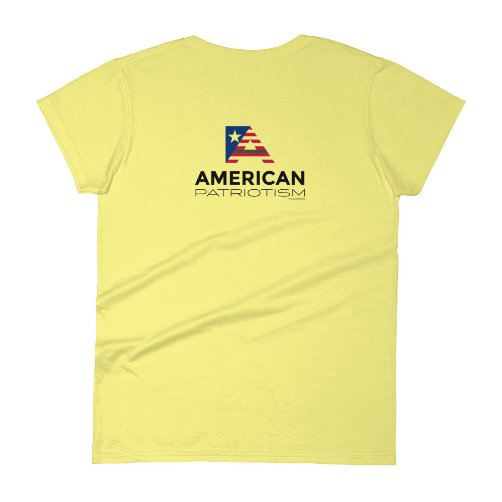 Woman's Tee: American...-TrainOurTroops-TrainOurTroops