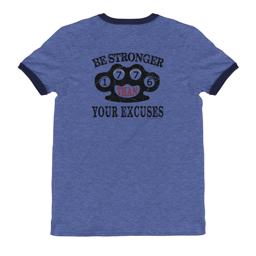 Men's Ringer Tee: Be Stronger...-TrainOurTroops-TrainOurTroops