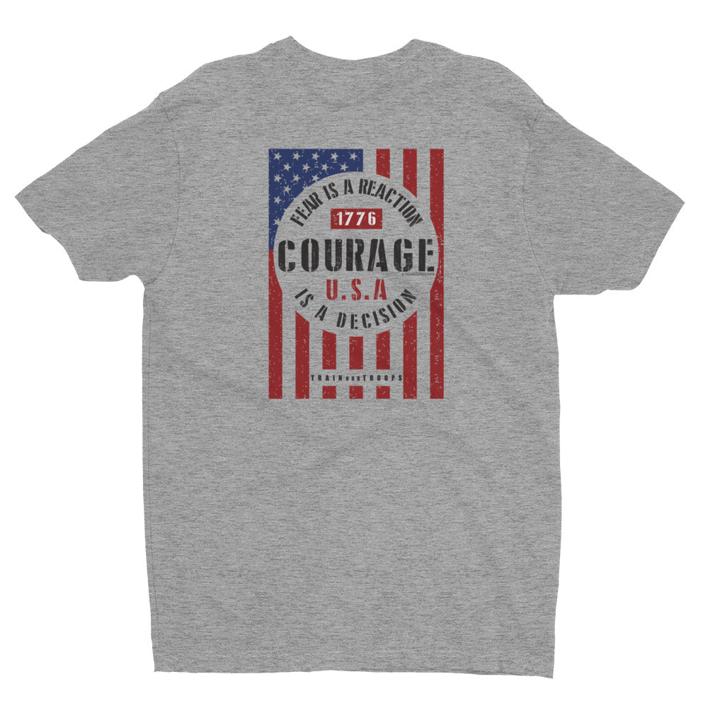 Men's Tee: Courage...-TrainOurTroops-TrainOurTroops