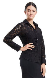 ALICE BUTTON DOWN LACE SHIRT