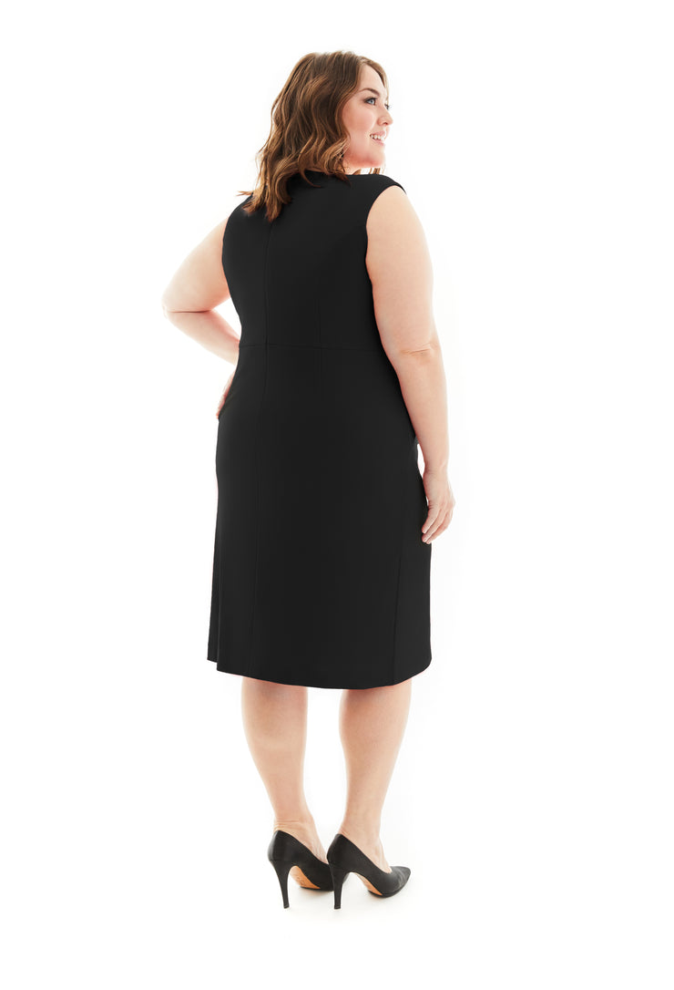 LUCILLE WRINKLE FREE PLUS SIZE LBD SHAPEWEAR DRESS