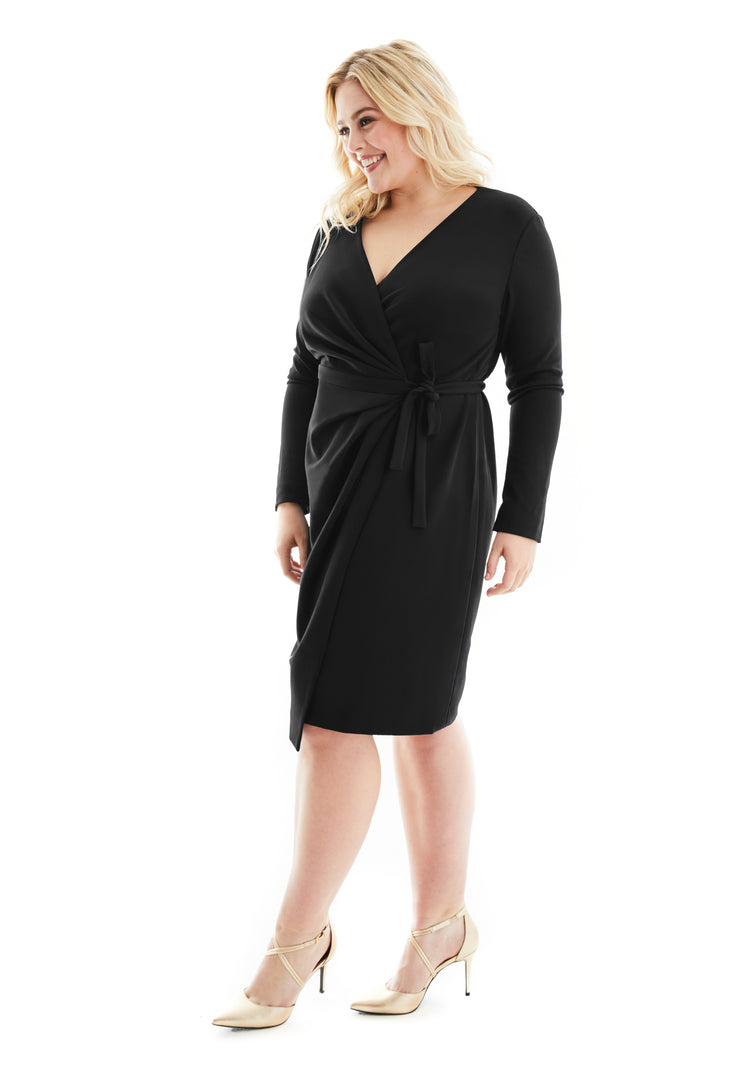 ALEXANDRA PLUS SIZE WRAP DRESS