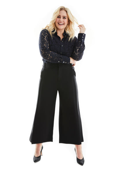 ALICE PLUS SIZE BUTTON DOWN LACE SHIRT