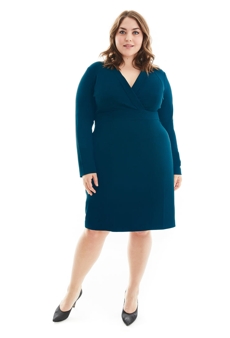 IDA FULL SLEEVE SHAPEWEAR PLUS SIZE DRESS