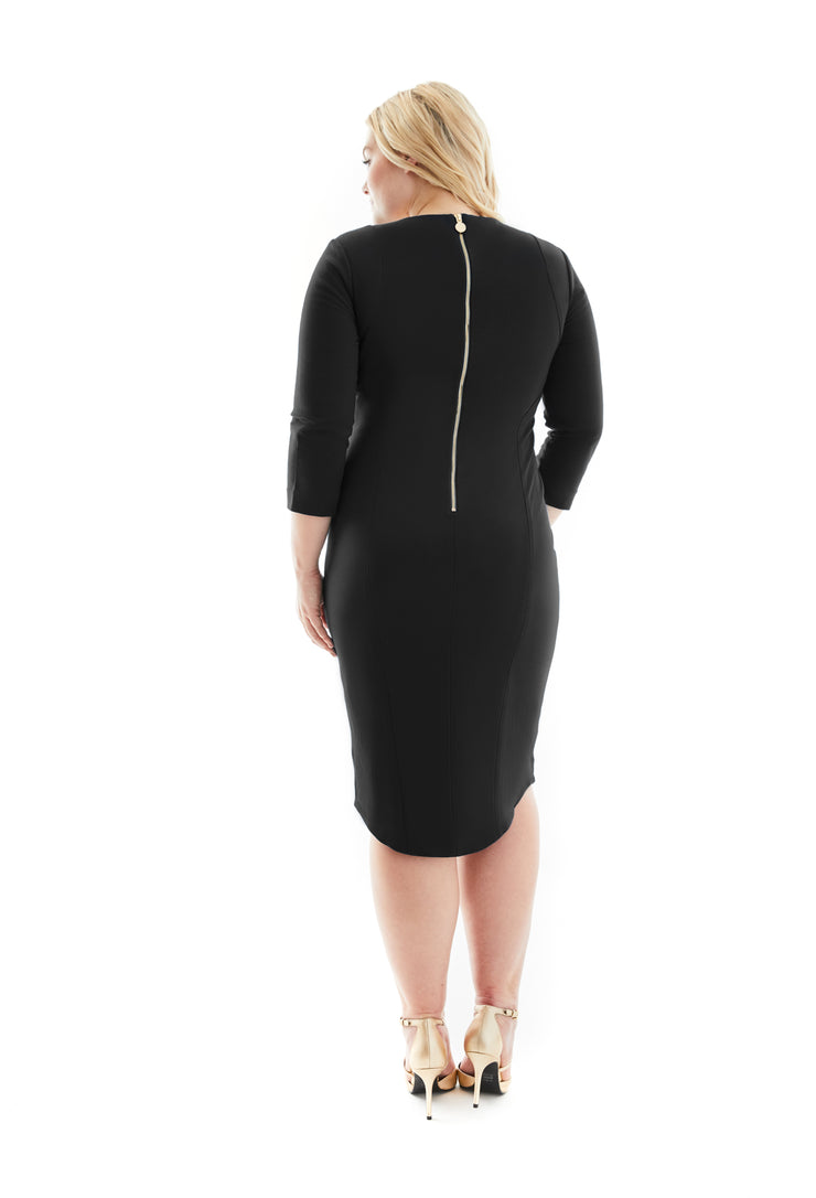JEANNETTE PLUS SIZE LBD SHAPEWEAR DRESS