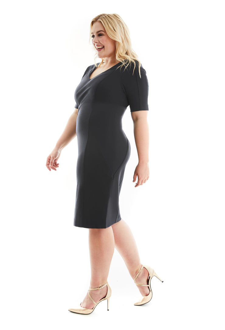 KATHARINE EMPIRE WAIST LBD SHAPEWEAR PLUS SIZE DRESS