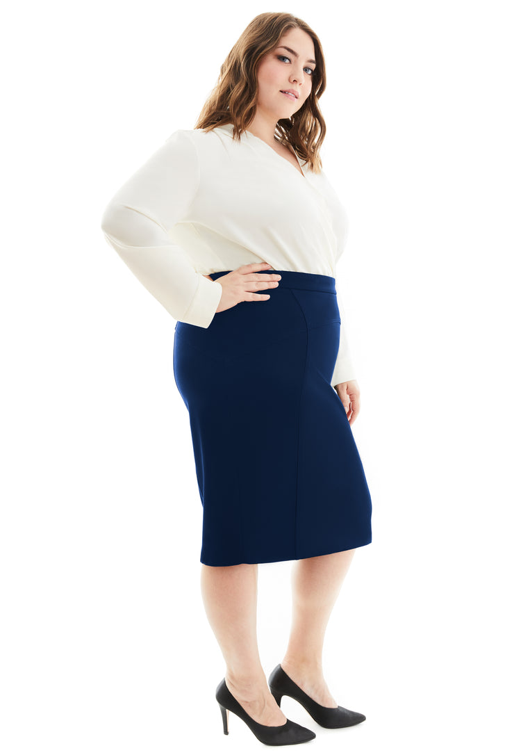 ROSALIND PLUS SIZE PENCIL SKIRT