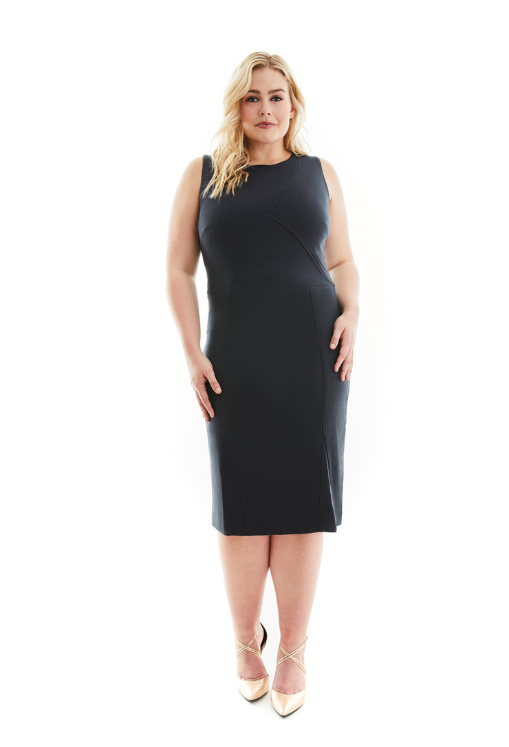 VALENTINA SLEEVELESS PLUS SIZE LBD SHAPEWEAR DRESS