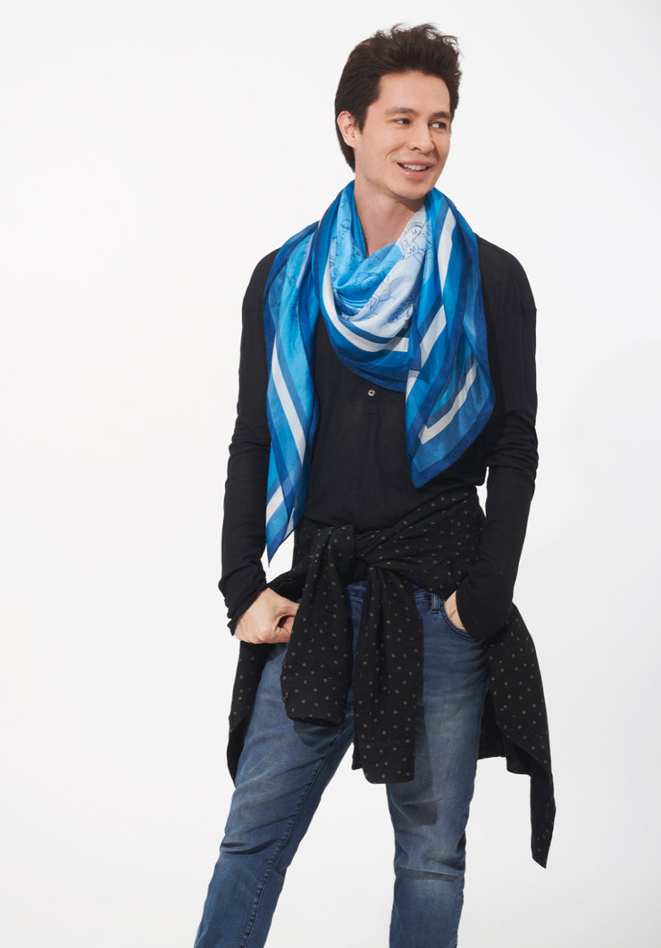 The Mosaic Scarf: Spiral