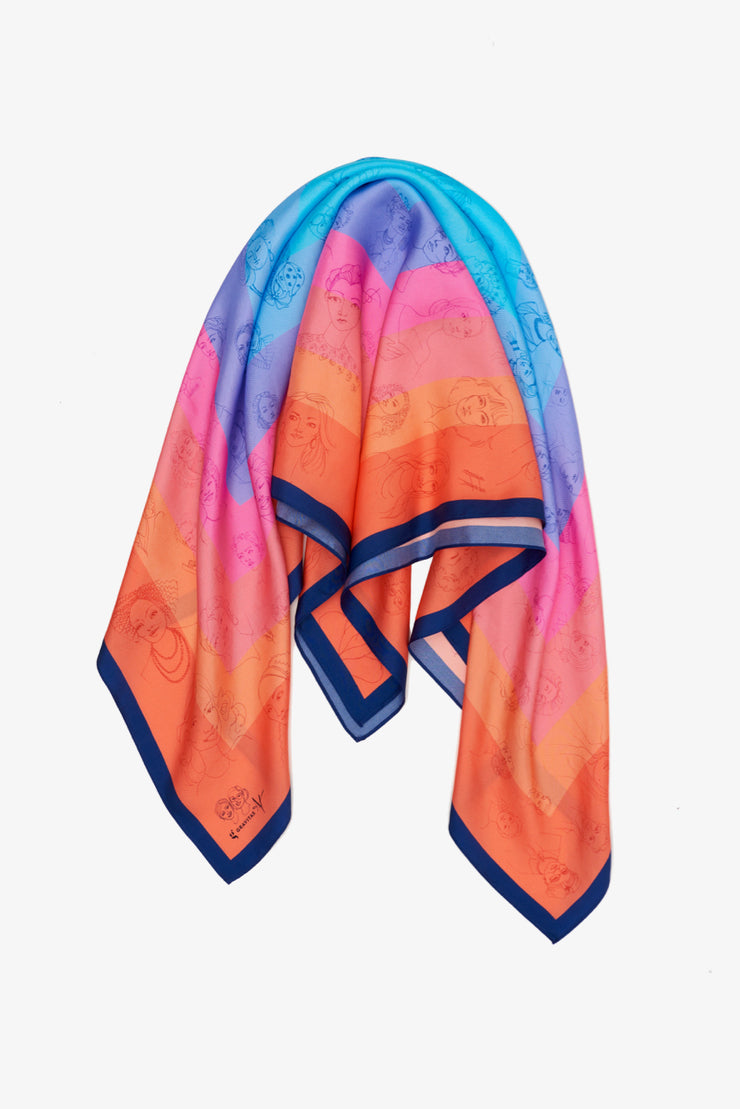 The Mosaic Scarf: Ombre