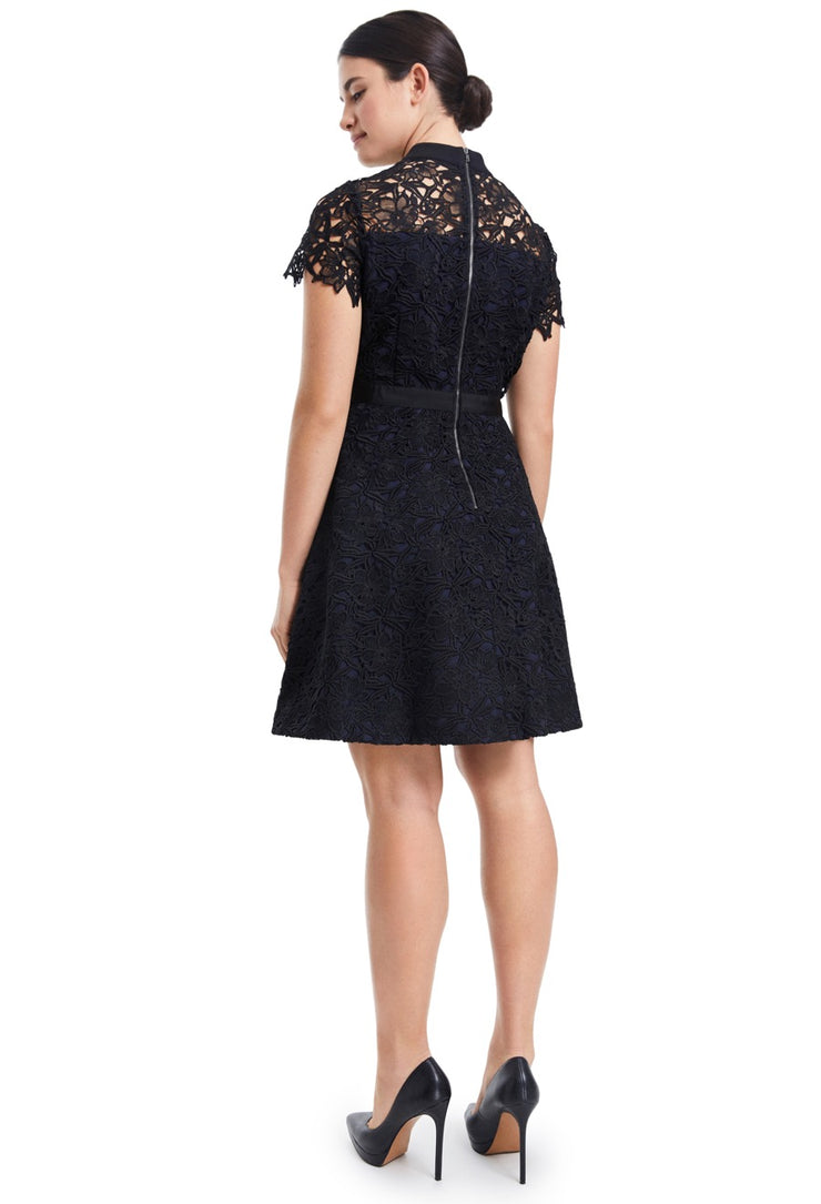 SALLY LACE & COTTON LBD DRESS