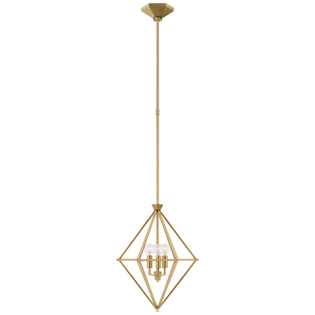 Afton Petite Elongated Lantern in Gild