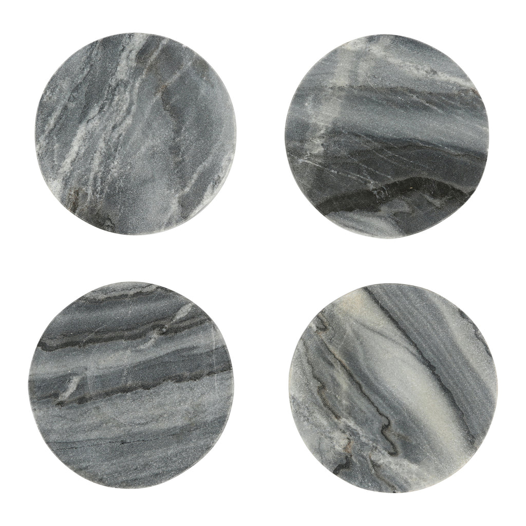 Modernist Marble Coasters, Set of 4
