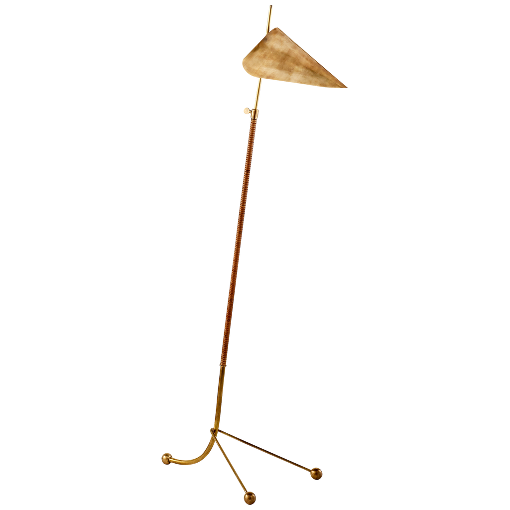 Moresby Floor Lamp in Hand-Rubbed Antique Brass