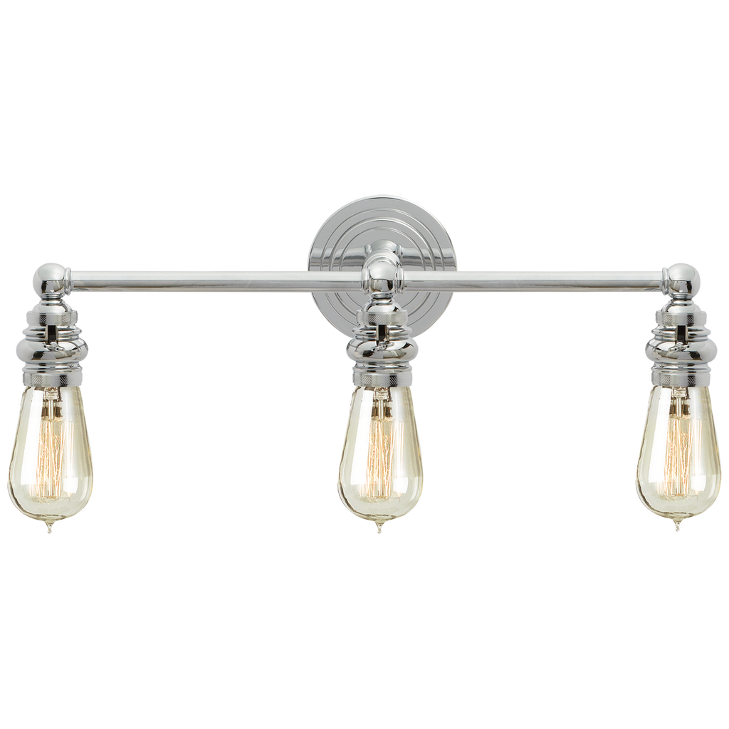 Boston Functional Triple Light in Chrome