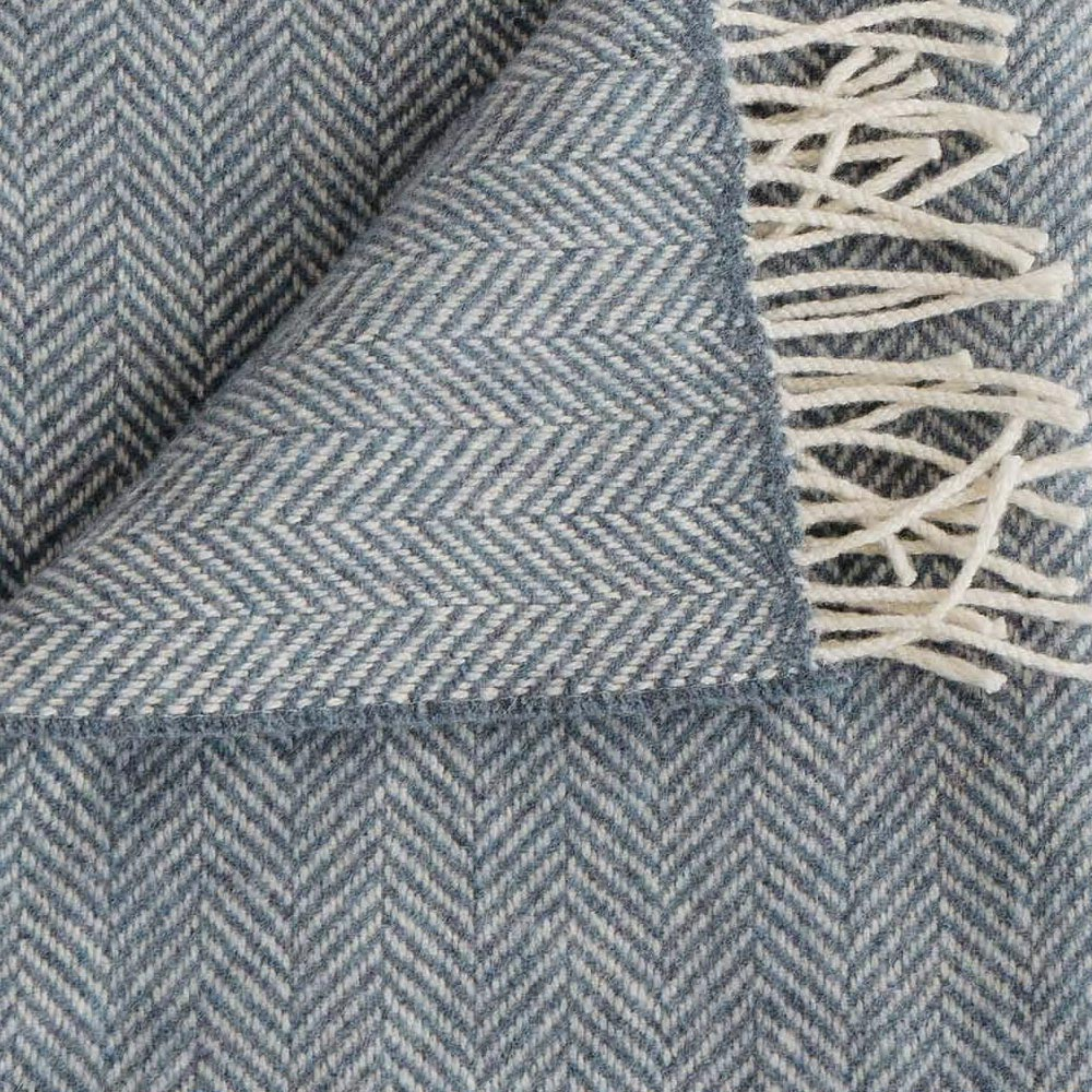 Twilight Merino/Cashmere Herringbone Throw