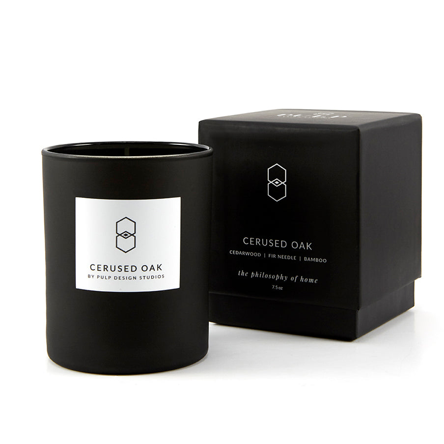 Cerused Oak Candle
