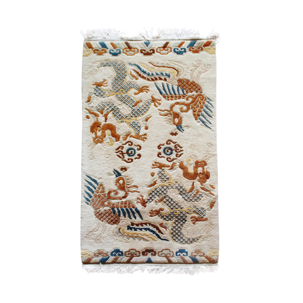 Antique Phoenix & Dragon Tibetan Rug // CLOTH & KIND