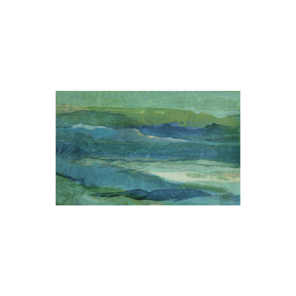 """Waterscape #28"" Unframed Abstract // CLOTH & KIND"