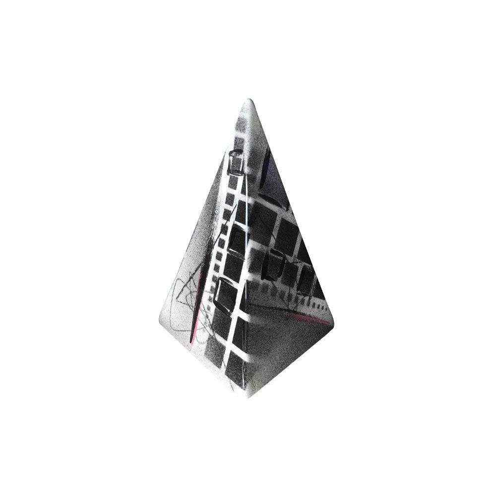 Charcoal Glazed Ceramic Pyramid // CLOTH & KIND